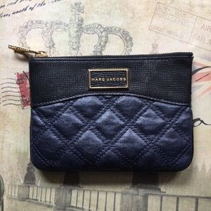Rare Marc Jacobs Baroque Single Navy Pouch 7x5
